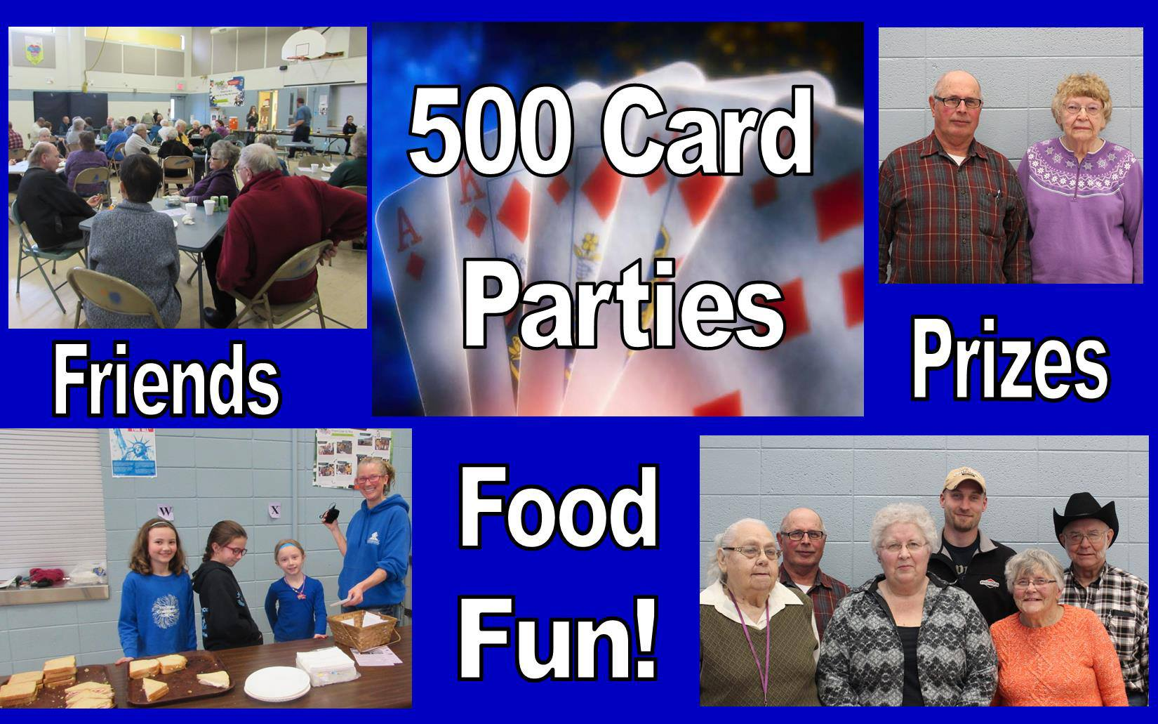 500 party photo collage