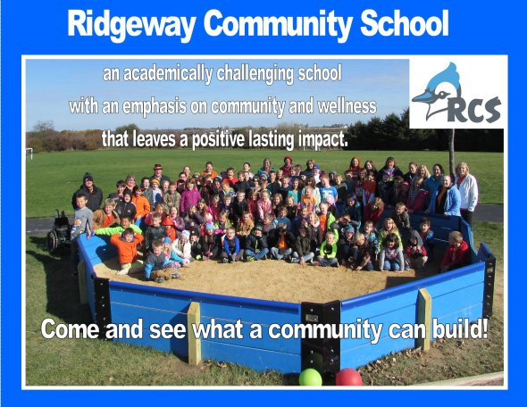 Ridgeway students and staff photo